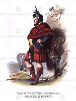 PAINTING BOOK CLANS SCOTTISH 1845 MacDONALD KEPPACH ART PRINT POSTER HP1188