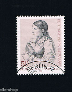 GERMANIA BERLINO BERLIN 1 FRANCOBOLLO BETTTINA VON ARNIM 1985 timbrato