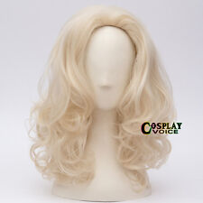 40cm Blonde Country 1980's Dolly Parton Halloween Cosplay Anime Wig + Free Cap
