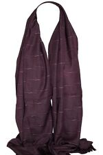 Viola Silky Tessuto Self Decorato Sciarpa Stola Scialle Sarong Hijab