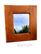 Beautiful Unique Quirky Wooden Hanging Wall Dovetail Mirror Handmade Cornwall