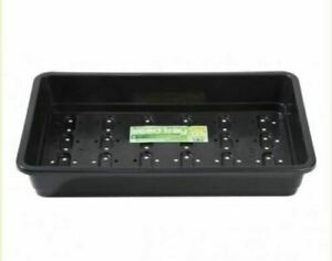 HEAVY DUTY BLACK PLASTIC SEED TRAYS WITH HOLES