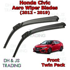 (12-19) Honda Civic Aero Wiper Blades / Front Flat Blade Wipers Hatchback Estate