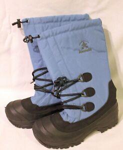 KAMIK ~ Comfort Range Snow Winter Waterproof Boots Sky Blue Black NWT 8 Womens