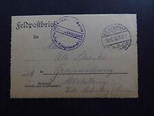 Feldpostbrief Germany Briefstempel Marine Kriegslazarell Kaiserliche Marine 1916