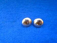 2 X HUSSARS/YEOMANRY 17MM HALF DOMED CHIN STRAP FORAGE/PARADE CAP BUTTONS