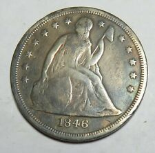 1846 O SEATED LIBERTY DOLLAR CLEAN