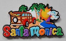 NEW Santa Monica Colorful Fridge 3D Rubber Travel Tourist Memory Magnet