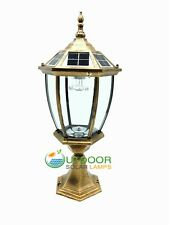 Aluminum Solar Post Cap light Auto ON/OFF From dust to dawn