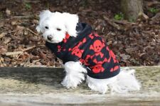 Hundepullover ,Hundejacke,Hundemantel SKULLY BLACK-RED