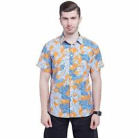 New mens hawaiian shirt floral printed summer short sleeve casual shirt top