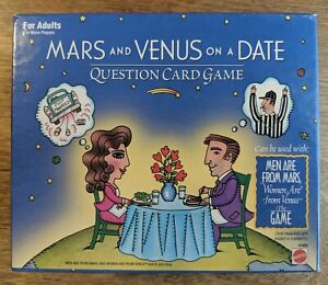 Mars and Venus on a Date Question Card Game For Adults by Mattel, 1998 VINTAGE