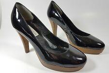 Dune womens black patent leather heels uk 4 eu 37