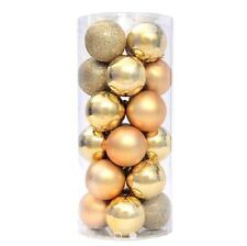 20 pcs 3cm Christmas Tree Decoration Hanging Balls Gold
