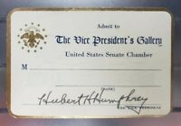 President's Gallery U.S. Senate Chamber Card Signed by Hubert H. Humphrey