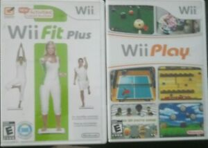 NINTENDO Wii PLAY VIDEO GAME -&- Wii Fit Plus
