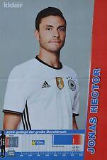 JONAS HECTOR - A3 Poster (ca 42 x 28 cm) - Fußball EM 2016 Clippings Sammlung
