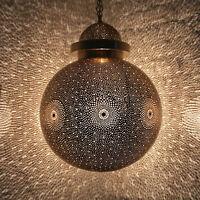 Oriental Lampe Lampe à Suspension Marocaine Lampe Suspendue Boule Laiton D45cm