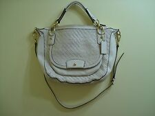 Coach Authentic Kristin Woven Leather Round Women's Satchel/Crossbody-- F23048