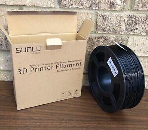 SUNLU PLA Plus 3D Printer Filament 1.75mm 3D Pens BLACK Filament +/- 0.02mm *NEW