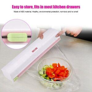 Refillable Plastic Wrap Dispenser Premium ABS Plastic Wrap Slide Cutter For