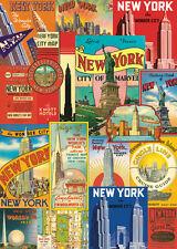 New York City - Vintage style  Poster Cavallini & Co 20 x 28 Wrap