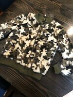 Metric Knits Faux Fur Camo Jacket Size Large  New W/ Tags Retail 225$ Free Ship