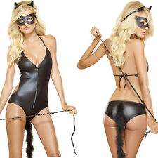 Sexy Womens Halloween Fancy Dress Catwoman Leopard Wild Costume Cat Cosplay 502