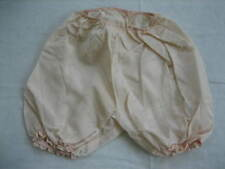 Vintage Pale Peach Polyester Satin Toddler / Child Bloomers, Pantalette