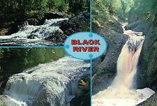 Black River - Michigan Waterfall Upper Peninsula, MI Cascade - Scenic Postcard
