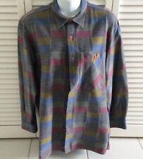MISSONI Geometric Shirt 100% Cotton Long Sleeved 48 euro Made in Italy