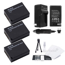 3x NPW126 NP-W126  Replacement Battery + Charger For Fuji X-Pro1 + Bonus