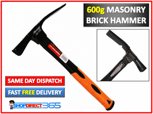 PRO HEAVY DUTY STEEL SHAFT BRICK LAYER CHIPPING ROCK FOSSIL HAMMER 600g #CT0426