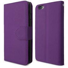 Viola per Apple iPhone 6g 4.7 PU Pelle Apertura Laterale Portafoglio Cover Custodia Flip