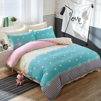 Lovely Bedding Set Home Flat Bed Sheet Pillowcase Duvet Cover Printed 3/4 Pieces