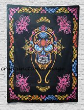 Halloween Skull Tapestry Wall Hanging Polyester Fabric Throw Bohemian Home Decor