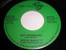 Steve Bassett: Hey Richmond! / (Instrumental) 45