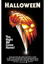 Halloween - Donald Pleasence - Jamie Lee Curtis - A4 Laminated Mini Movie Poster