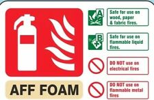 Foam Fire Extinguisher Sign, Self Adhesive Vinyl, 200 mm