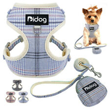 Front Clip Dog Harness and Leash With Treat Snack Bag Mesh Padded Walking Vest
