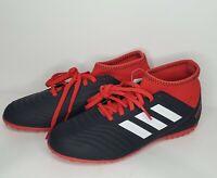 Adidas Predator Tango 18.3 Turf Junior Soccer Cleats Black/Red Boys Size 4 M US
