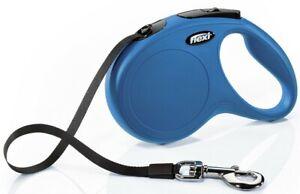 Flexi Classic Retractable Lead Tape, Medium 5m, Blue, Premium Seller, Fast Disp