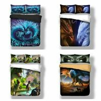 HD Dragon Soft Duvet Cover Set for Comforter Twin/Queen/King Size Bedding Set US