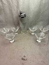 Vintage Martini Set - Shaker And 6 Glasses