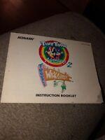Tiny Toon Adventures 2 Trouble Wackyland II NES Nintendo Instruction Manual Only
