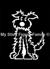 MY STICK FIGURE FAMILY Car Window StIckers PD2 Fluffy Dog Medium
