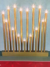 Christmas Heart Shaped Candle Bridge Decoration with 15 Bulbs in Gold - 57