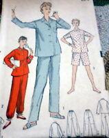 LOVELY VTG 1950s PAJAMAS ADVANCE Sewing Pattern 14/32