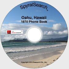 HI - Oahu Hawaii 1970 Phone Book CD Text Searchable!
