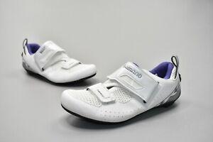 Shimano Women's SH-TR5W Triathlon Road Cycling Shoes White Size US 4.8 EU 36